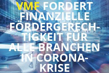 VMF fordert finanzielle Fördergerechtigkeit für alle Branchen in Corona-Krise